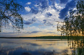 Sunset over the river — Stock Photo