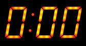Medianoche mostrar reloj digital — Foto de Stock