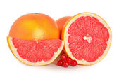 Cut grapefruits and berry — Stock Photo