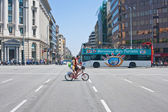 On the streets of Barcelona. Spain — Stock Photo