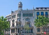 House in the street Passage-de-Gracia in Barcelona. Spain — Foto de Stock