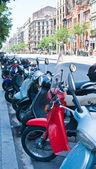 The street in Barcelona, Spain — Stock Photo