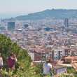 Panoramic view of Barcelona city, Spain. — Stock Photo