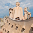 Stock Photo: Tourists on roof of CasMilHouse (LPedrera), Barcelona