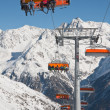 Chair ski lift. Solden. Austria — Stock Photo #8024714