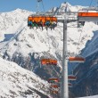 Chair ski lift. Solden. Austria — Stock Photo