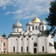 Saint Sophia cathedral in Kremlin of Great Novgorod Russia - Stock Photo