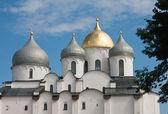 Catedral de santa sofía en kremlin de gran novgorod rusia — Foto de Stock