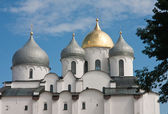 Saint Sophia cathedral in Kremlin of Great Novgorod Russia — Stok fotoğraf