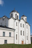 St. Nicholas Cathedral, Yaroslav's Court. Novgorod the Great — Stock Photo