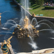 Grand cascade of fountains in Pertergof, Saint-Petersburgg — Foto de Stock