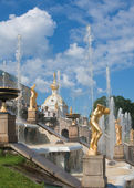 Fountains of Petergof, Saint Petersburg, Russia — Foto Stock