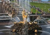 Samson Fountain, Grand cascade in Pertergof, Russia — Stock Photo