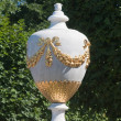 Vintage vase in park at Peterhof, Saint Petersburg, Russia — Stock Photo #9082712