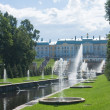 Grand Cascade Fountains at Peterhof Palace garden, St. Petersbur — Stock Photo