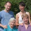 Stock Photo: Three generations of family