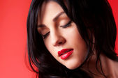 Portrait of a woman brunettes — Stock Photo
