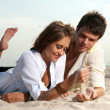 Guy and his girlfriend — Stock Photo #10433613