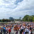 DONETSK, UKRAINE - MAY 9 Unidentified veterans at Victory Monume - Stock Photo