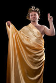Man dressed in Greek god — Stock Photo