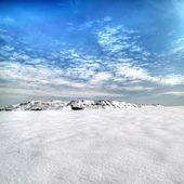 Slagheap winter in the snow. Donetsk. — Stock Photo