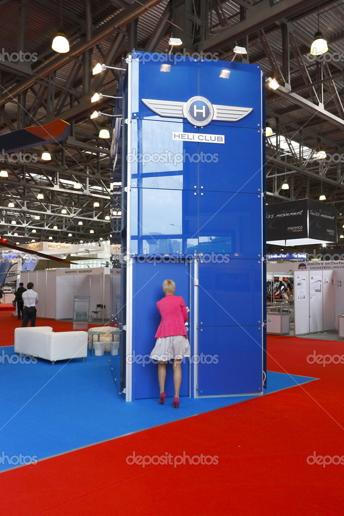 MOSCOW-MAY 21: Exhibits 4-th International Exhibition of Helicopter Industry on May 21, 2011 in Moscow — Stock Photo #10224071