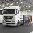 International exhibition of trucks — Stock Photo