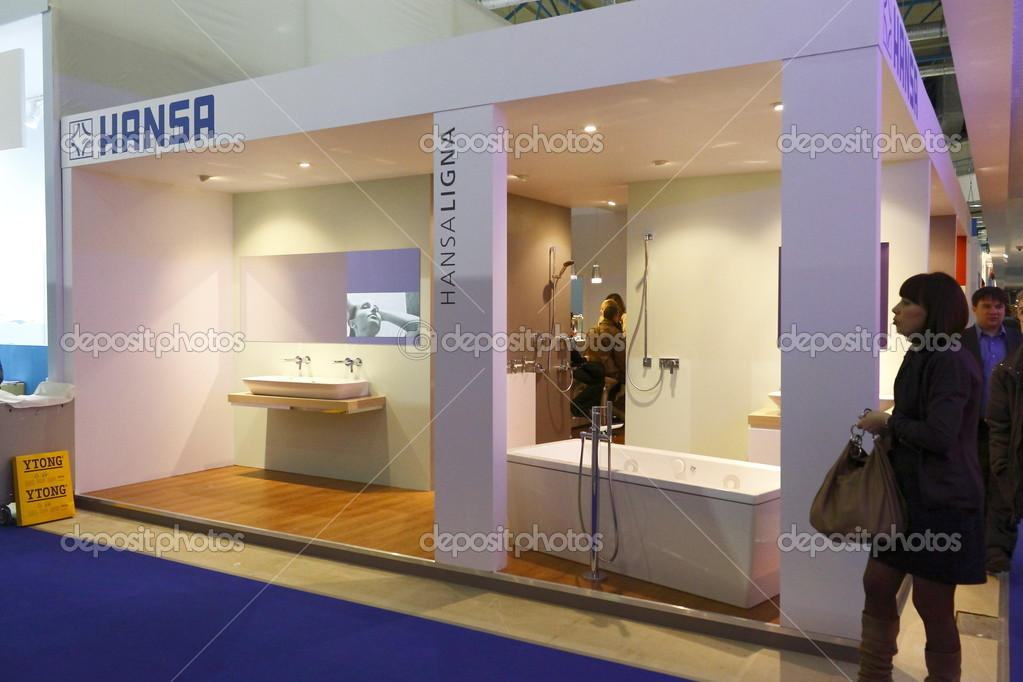 MOSCOW-APRIL 4: Exhibits of Europe&#039;s largest trade show MosBuild 2011, which was opened by Prince Philippe of Belgium on April 4, 2011 in Moscow.  Stock Photo #10273951