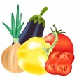 Royalty-Free Stock Vector: Vegetables on white background