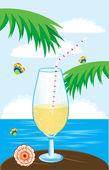 Gobelet en verre sur fond deathes épidémique — Vecteur