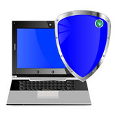 Computador e sua proteção — Vetorial Stock