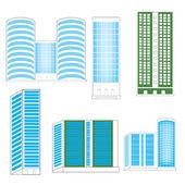Town buildings — Cтоковый вектор