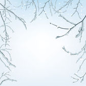 The branches of the snow — Stockvector