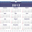 The calendar USA 2012 — Stockvectorbeeld
