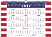 The calendar USA 2012 — Stock Vector