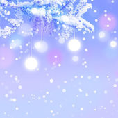 Winter Christmas background — Stock Photo