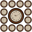 Vettoriale Stock : Set Round Wall Clock