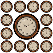 Set Round Wall Clock — Stock Vector