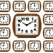 The Set Clock Time — Imagen vectorial