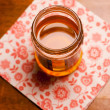 Sweet honey in glass - Stock Photo