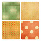 Set with vintage pattern — Stock Photo