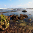 Ebb-tide on Nusa Dua`s beach, Bali — Stock Photo