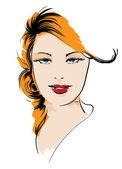 Beauty girl face — Stock Vector