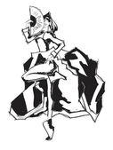 ファッションの女の子 — ストックベクタ
