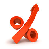 Growth Percentage Sign. — Stock Photo