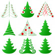 Christmas trees collection — Stock vektor