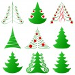 Christmas trees collection — Stockvectorbeeld