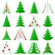 Christmas trees set — 图库矢量图片