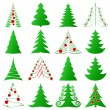 Christmas trees set — Stockvectorbeeld