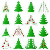 Christmas trees set — Stock Vector